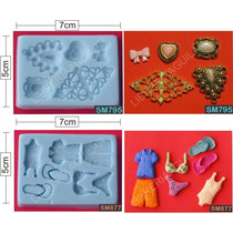 Moldes De Silicona Flexible - 90 Modelos - Porcelana Fria