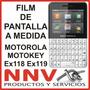 Film Protector De Pantalla Motorola Motokey Xt Ex118 / Ex119