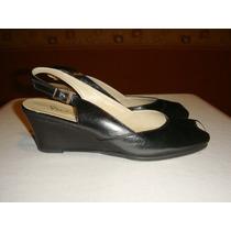Gravagna Sandalias Nro:35 Boquita De Pez Color Negro