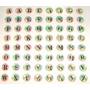 Letras Autoadhesivas X 64 Unid Stickers Colgantes