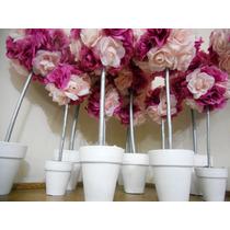 Topiarios Con Flores! Souvenir, Centro De Mesa, Hermosos!!!!