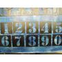 Stencil Juego De Numeros De 0 A 9_mdf O Plastico 6cms