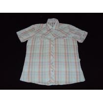 Camisa Stone Mangas Cortas Rayada Talle M
