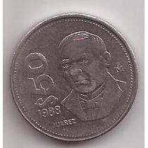 Mexico Moneda De 50 Pesos Año 1988 Escasa Alto Valor !!!!
