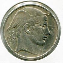 Belgica Hermosa Moneda De Plata De 5 Francos Año 1951