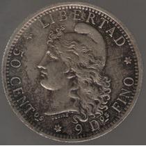 Argentina 50 Centavos 1882 Plata S/c
