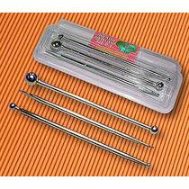 Set 2 Bolillos Y Una Esteca Metalicos Parpen X 3