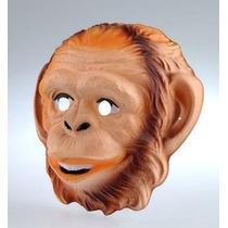 Careta Plástica Mono - Mascara Animales Accesorio Disfraz