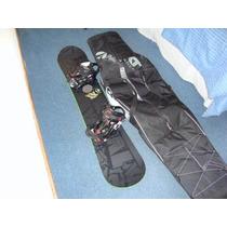 Tabla Snowboard Vökl Riot Squad, Fijaciones K2 Sonic Y Bolso