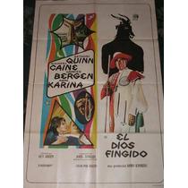El Dios Fingido- Anthony Quinn - Afiche Cine Original Poster