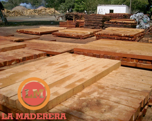 Poste madera quebracho colorado cerco 3 x 3 x 3 mts 234 - Tablones de roble ...