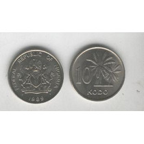 Moneda De Nigeria 10 Kobo Año 1989, 9 Dolares De Catalogo!!!