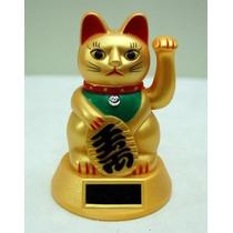 Gato De La Suerte *fortuna* Maneki Neko Solar Feng Shu
