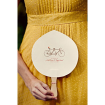 Abanicos De Papel Personalizados Para Casamiento X 10