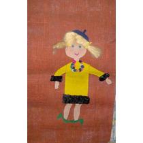 Lote Cuadros Artesanales P/cuarto Infantil Pañolenci S/ Yute