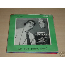 Jimmy Fontana Lo Que Paso Paso Simple C/tapa Argentino