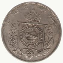 Brasil 2000 Reis 1866 Plata Fecha Adulterada Exc-