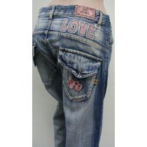 Scombro Pantalon T40 Jeans Semielastizado Azul (ana.mar)