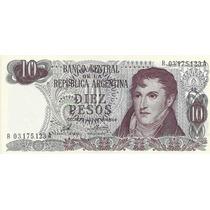 Billete 10 Pesos Ley Reposicion Bottero 2360 Sin Circular