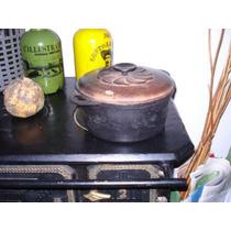 Antigua Olla De Campo.cocina.tarro.cacharro.leña.decorativo.