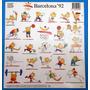 Plancha De Stickers De Cobi - Olimpiadas Barcelona ´92