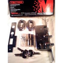 Cerradura Yaltres Multipunto Automatica 2 Pasadores Redondos