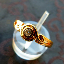 Anillo Oro 14 Gold Filled Con Circonita Transparente