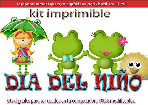 Candy Bar Dia Del Niño Kit Imprimible Cotillon Golosinas - $ 97 en ...