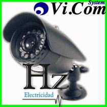 Camara Vi.com Ccd8 Lente Sony Intemperie + Cable + Fuente Hz