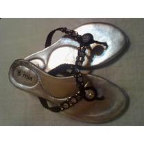 Sandalias Tipo Ojotas.negras Con Piedras.nº 36.
