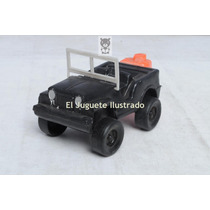 Jeep Militar Plastico Inflado Ind Argentina Juguete Antiguo