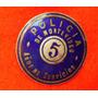 Pin Policìa De Montevideo Esmaltado 5 Años De Servicio