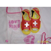 Victorias Secret Pink Ojotas Playeras! Liquido!