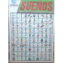 Cartel Sueños Oficios Animales Para Quiniela Con Dibujos
