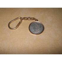 Cadena De Oro 14 Kts Llavero,one Dollar Morgan De Plata 1878