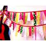 Guirnalda Telas Banderines Eventos Cumpleaños Fiestas
