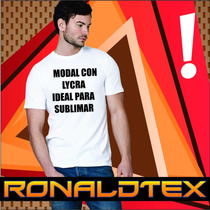 Remeras De Modal C/ Lycra Ideal Para Sublimar Cuello Reeb