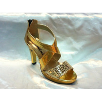 Stiletto Sandalia Oro ! Con Taco De 9cm Y Plataforma De 2cm.