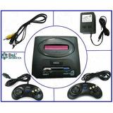 Sega 16 Bits Alien+2 Joysticks+ Trafo + Juegos Sonic Gtía 6m