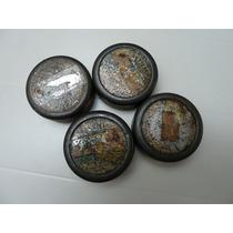 4 Antiguas Latas Redondas De Pastillas Valda, Vacías