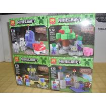 Escenario Para Armar Y Figuras Minecraft Blockes Setx4 Block