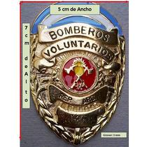 Porta Placa De Cuero + Placa - Bomberos