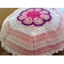 Almohadon Tejido A Mano A Crochet 32 Cm Diam Flor Africana