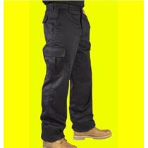 Pantalon Cargo- Somos Fabricantes- Negro Hasta Talle 48