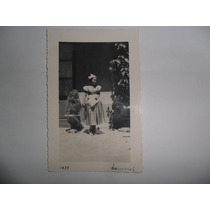 Antigua Fotografia Carnaval 1937 Disfraz Mujer