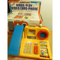 Antiguo Juego Electronico, Kiddie Play Video Card Phone,1993