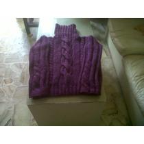 Pullover / Sweater Gordo De Lana Tejido A Mano - Como Nuevo