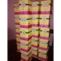 Portalapices Minions Nena Rosa Por 25 Unidades Souvenirs