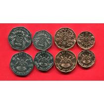 Uganda Set De 4 Monedas Año 1987