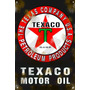 Cartel Antiguo Texaco Grande 90x60cm Chapa Gruesa (1,25mm)